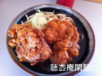 我孫子駅「弥生軒」の唐揚げ蕎麦