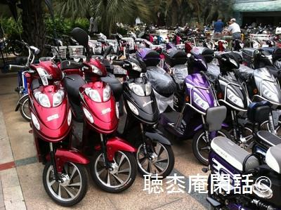 上海・電動バイク