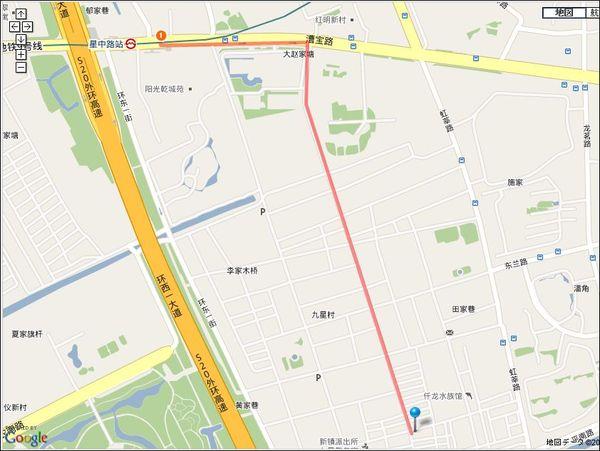 上海・九星茶葉批発市場 地図